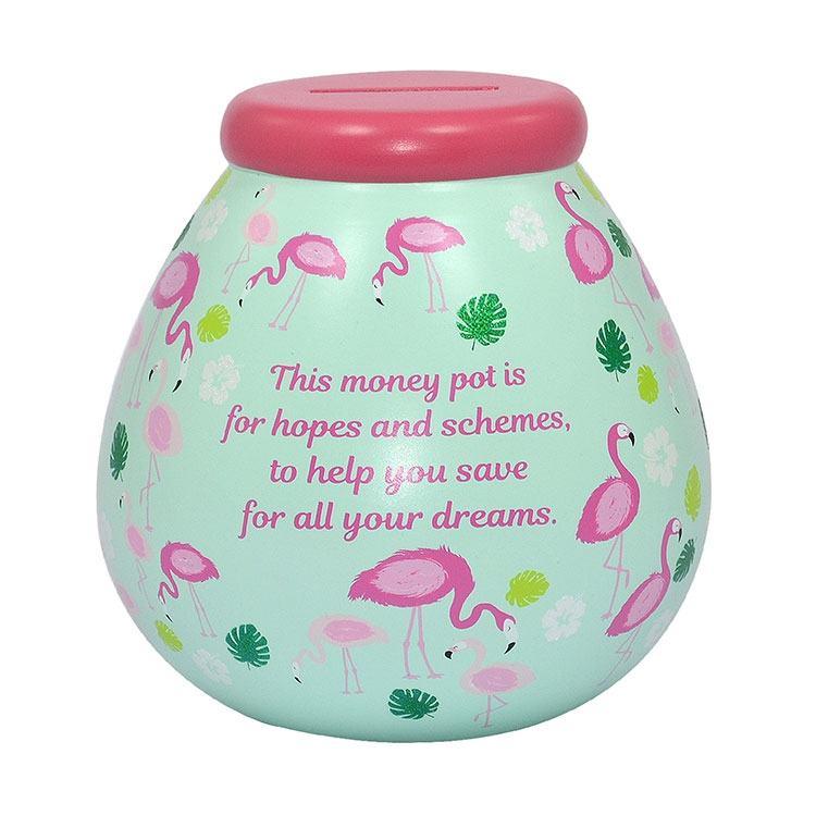 Pot of Dreams Flamingo Money Pot