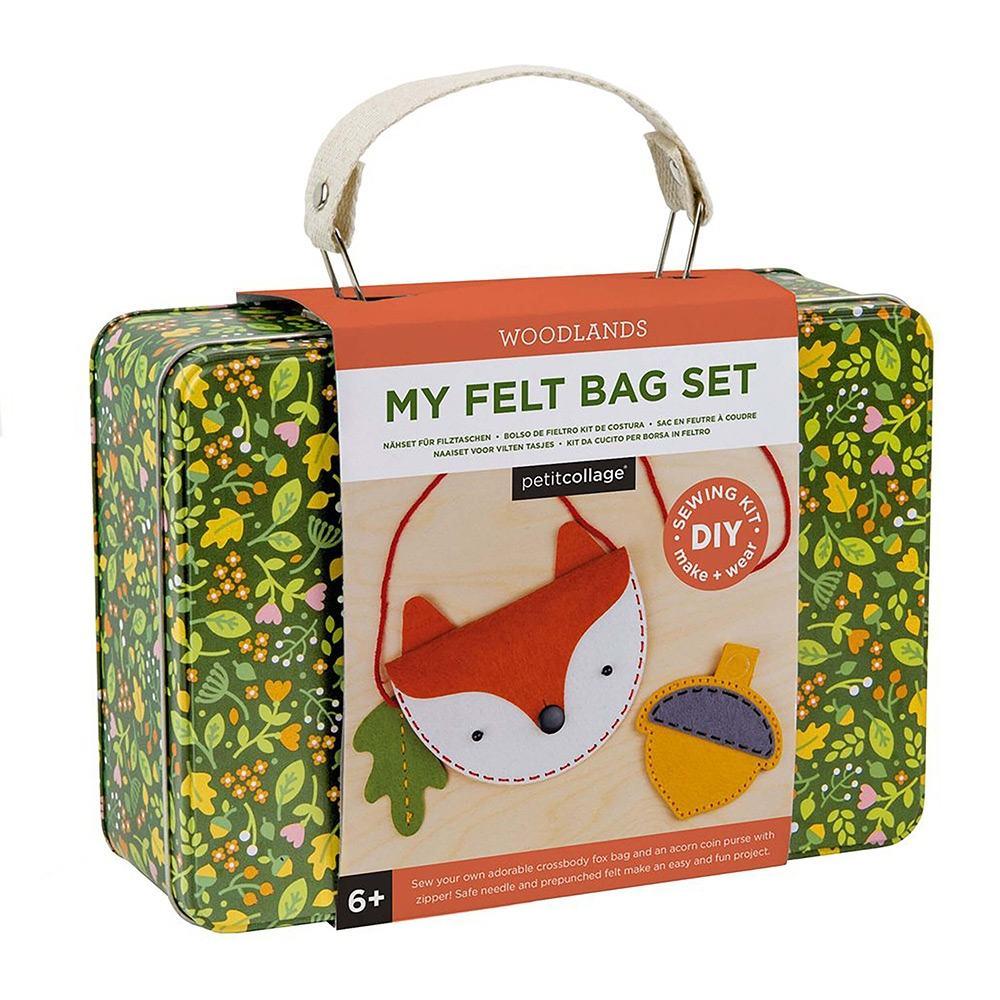 Petit Collage Felt Bag DIY Sewing Kit - Woodlands