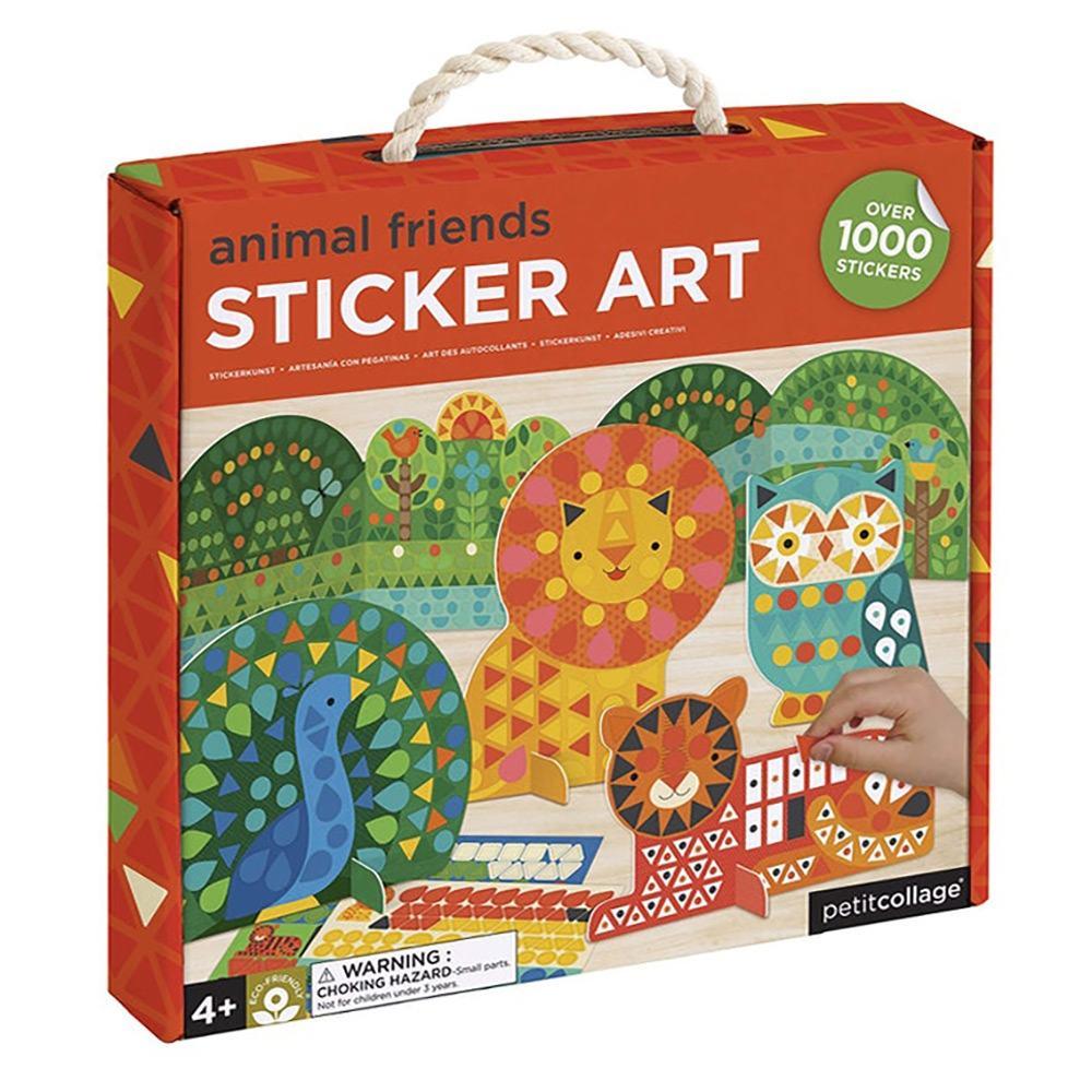 Petit Collage Animal Friends Sticker Art Play Set