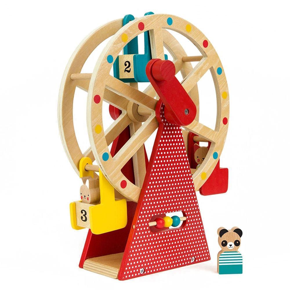 Petit Collage Carnival Play Set Wooden Ferris Wheel