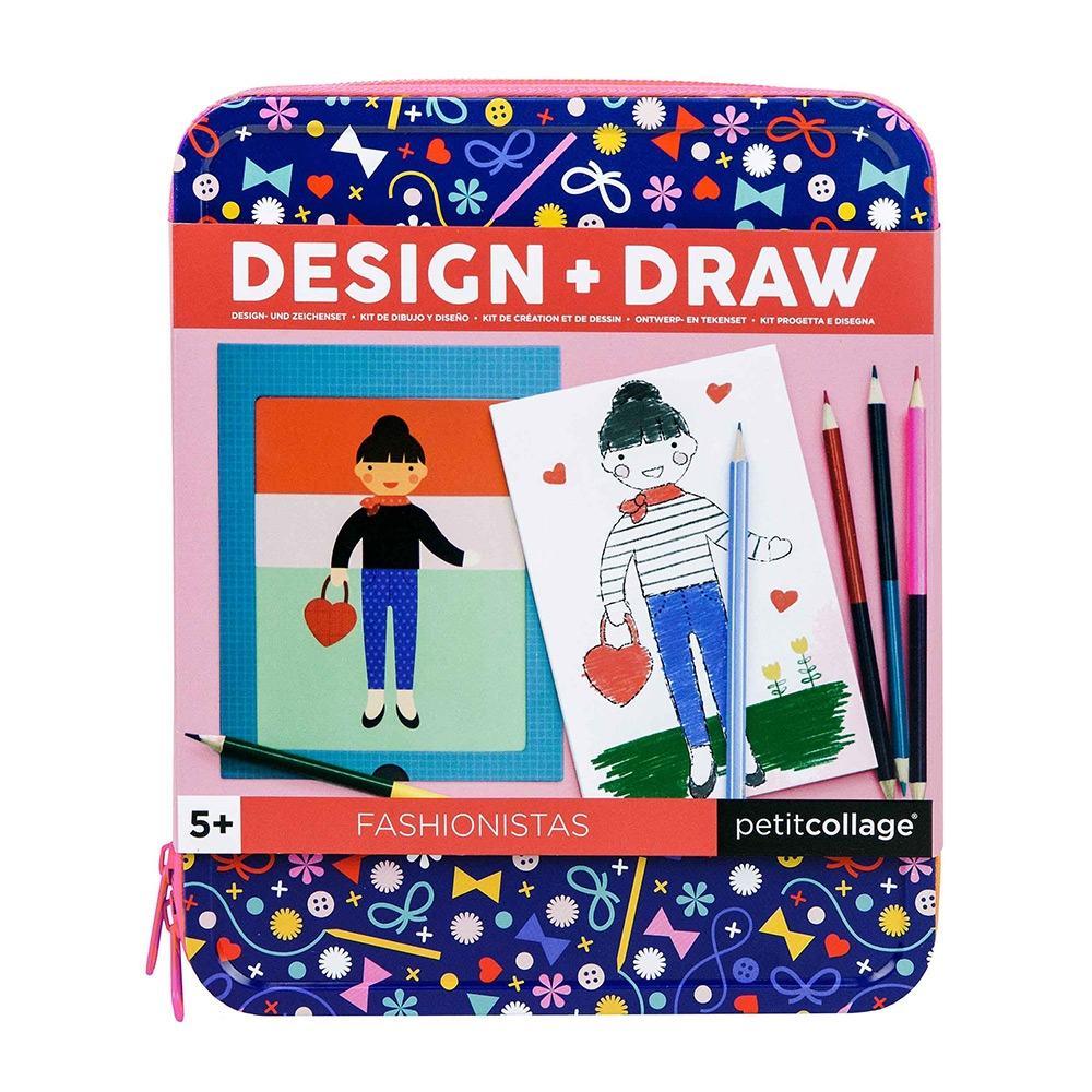 Petit Collage Design & Draw Fashionistas Creation Set