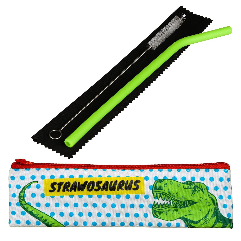 Really Good Strawosaurus Kids Silicone Straw Set