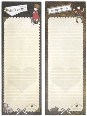 gorjuss purrrrfect love and ruby notepad set