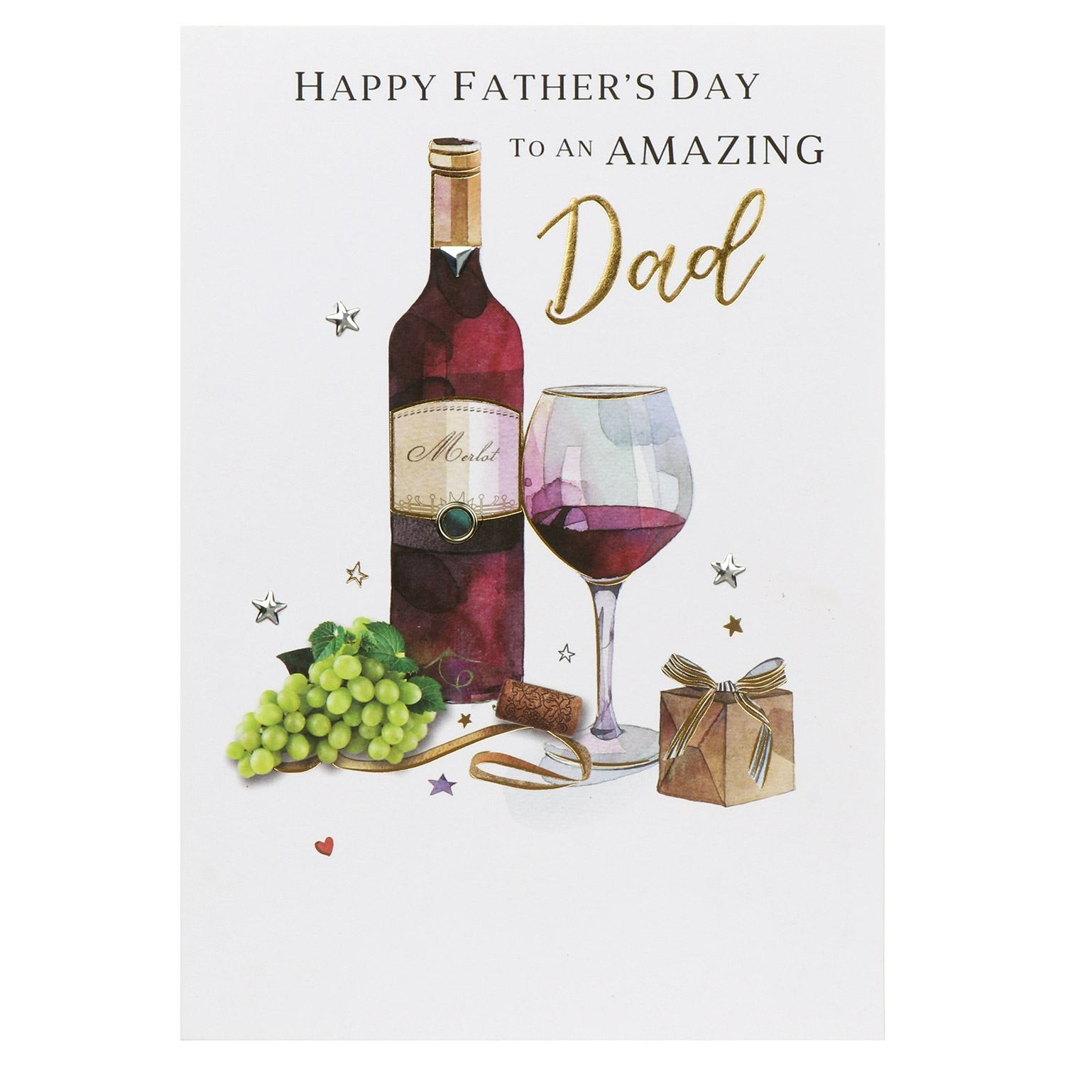 Large 'Merlot – Amazing Dad' Father's Day Card