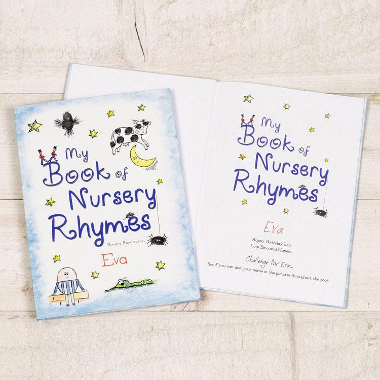 My Book Of Nursery Rhymes Personalised Childrens Book