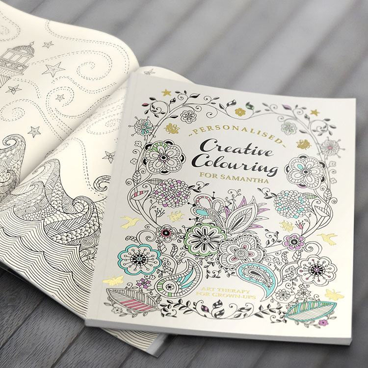 Personalised Creative Colouring Softback Book