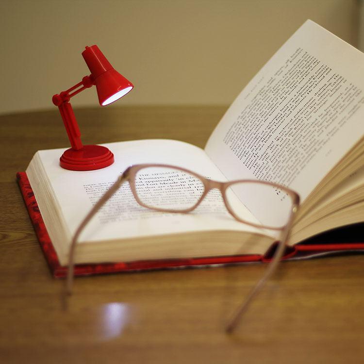 World's Smallest Led Reading Light Red