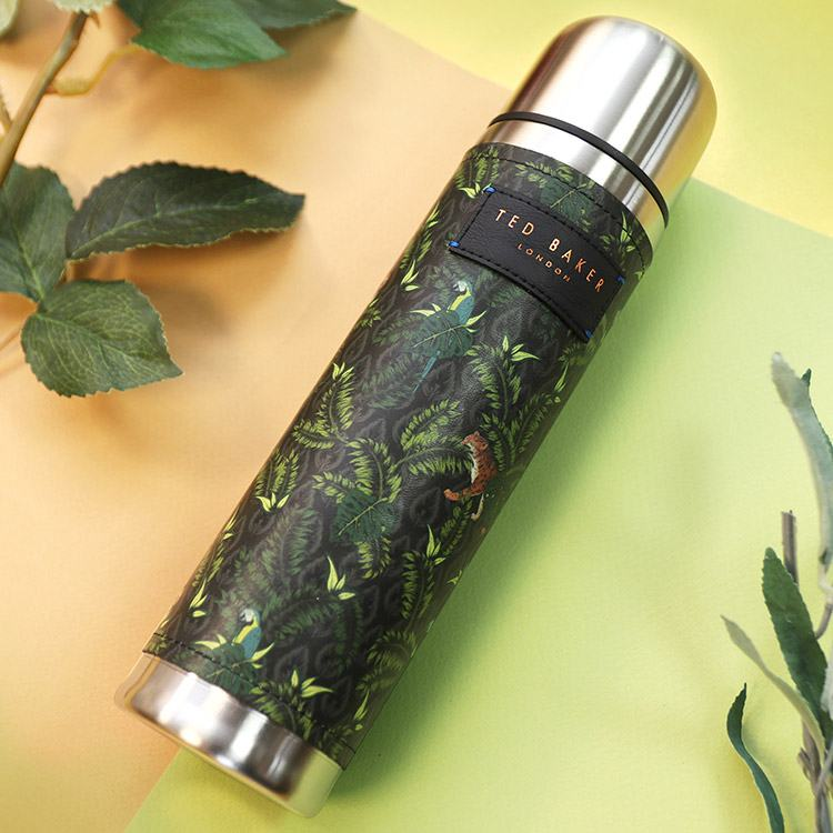 Ted Baker Jungle Print Stainless Steel Flask