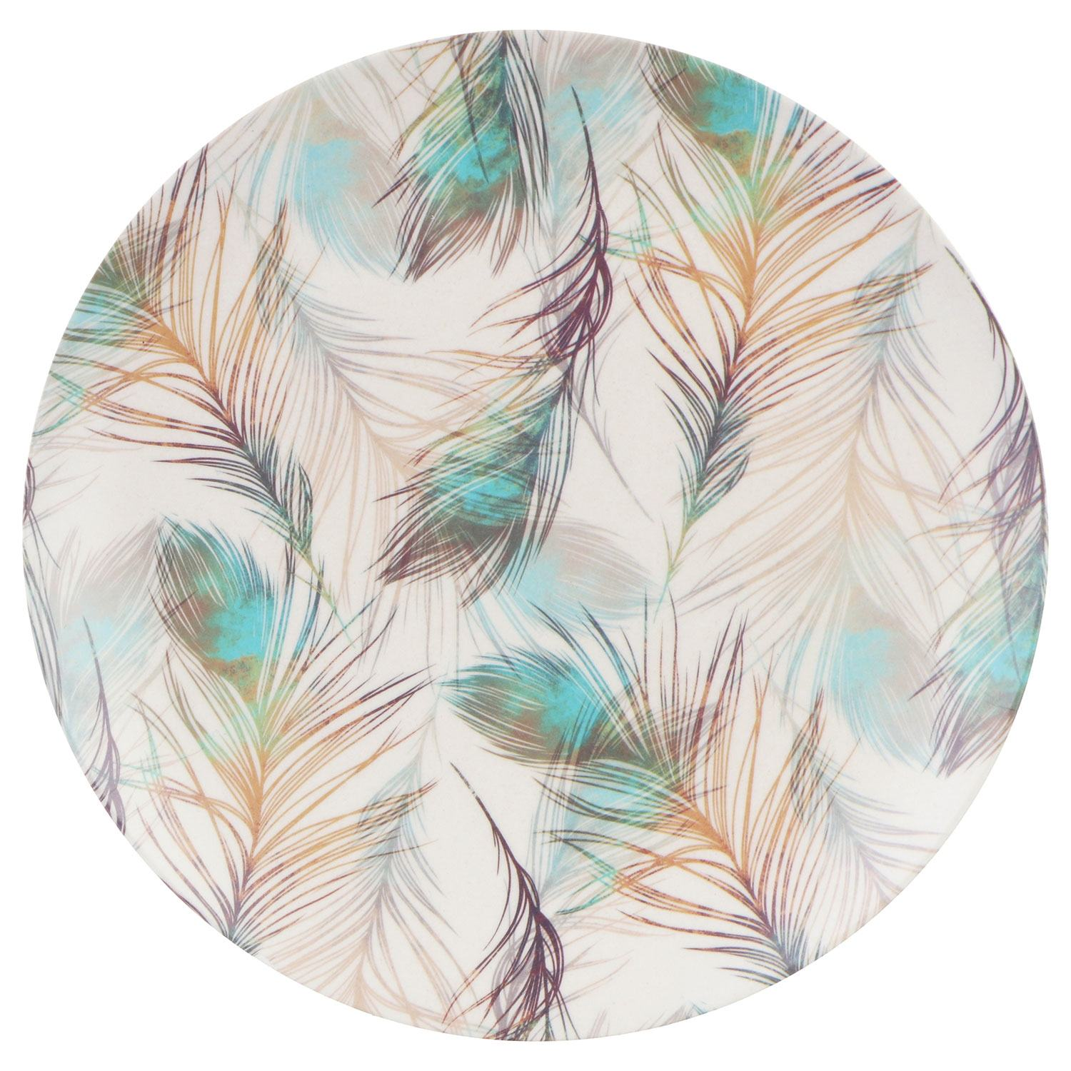 Temptation Bamboo Fibre Feather 10 Inch Plate