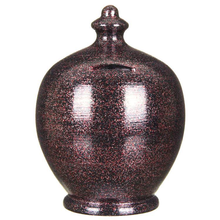 Terramundi Full Glitter on Black Money Pot
