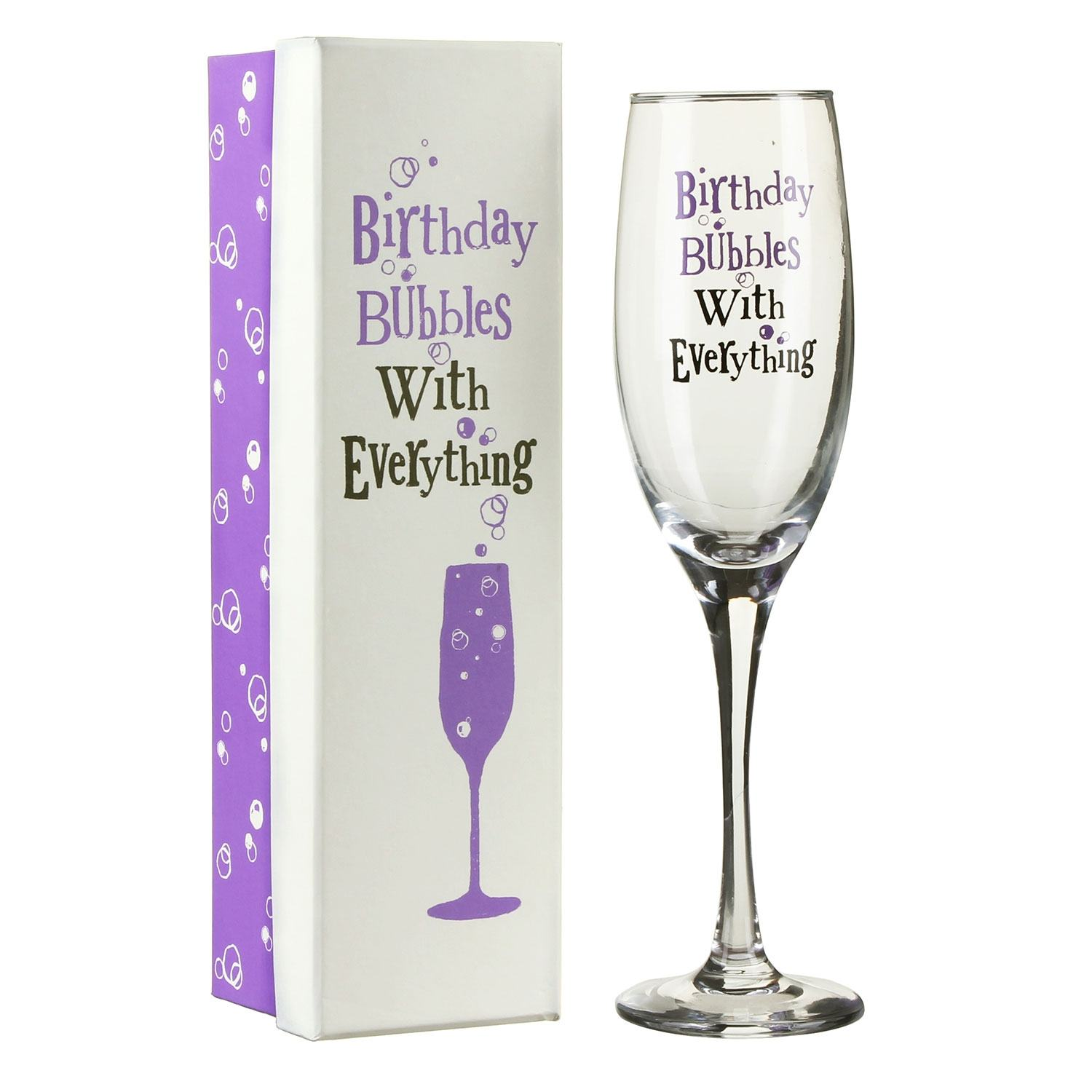 The Bright Side Birthday Bubbles With Everything Glass