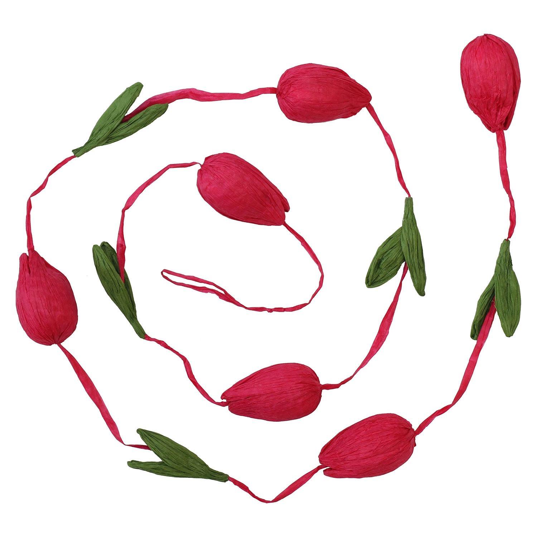 Transomnia Bright Pink Paper Tulip Garland