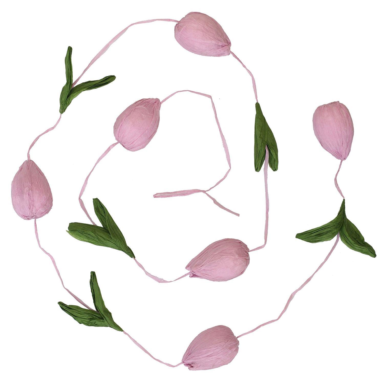 Transomnia Blush Pink Paper Tulip Garland