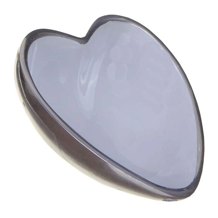 Transomnia Orvieto Enamelled Aluminium Heart Shaped Bowl Grey