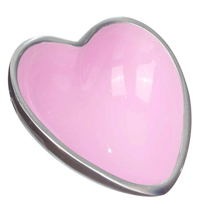 Transomnia Orvieto Enamelled Aluminium Heart Shaped Bowl Pink