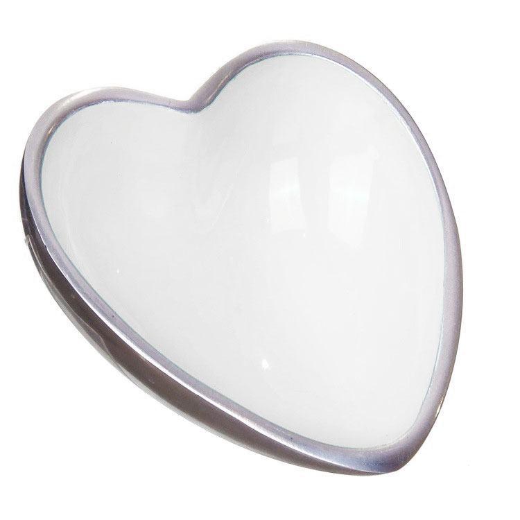Transomnia Perugia Enamelled White Heart Bowl