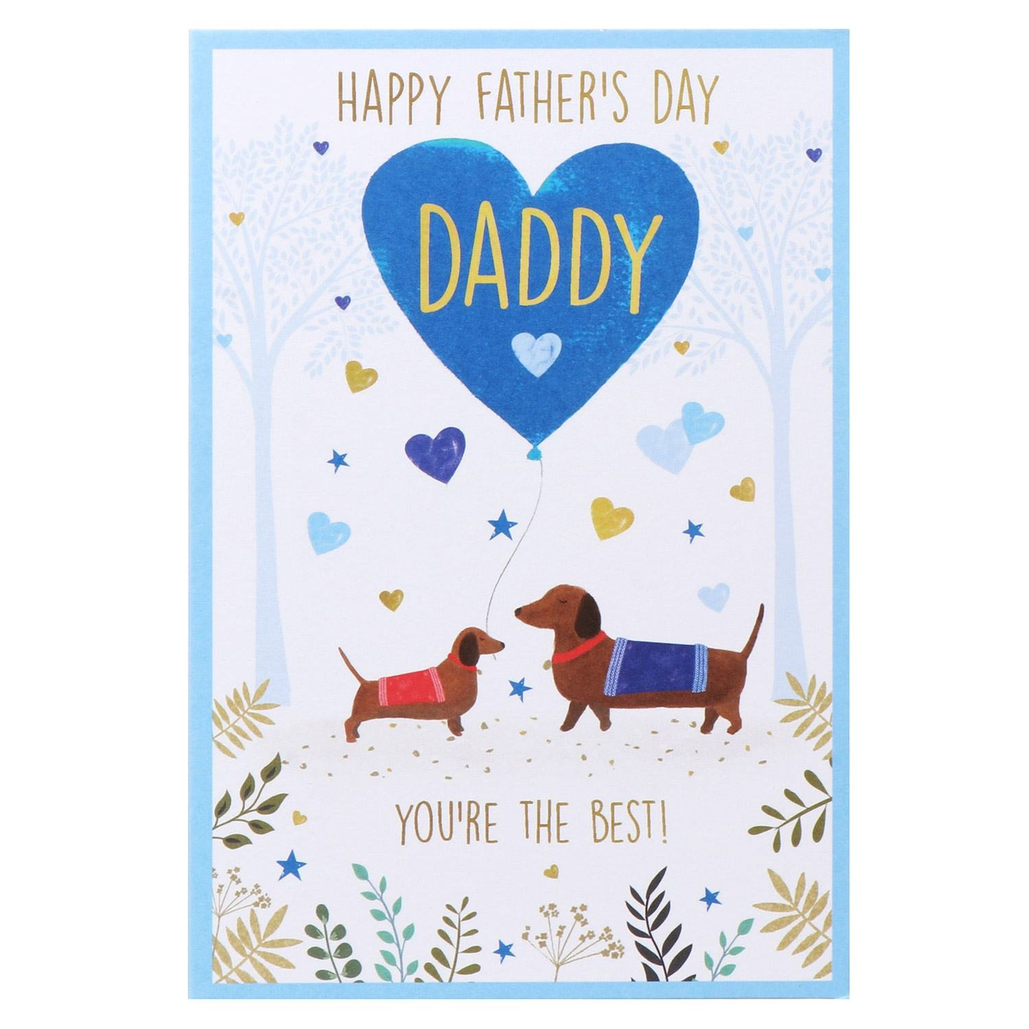 'Daddy You're The Best' Dachshunds Father's Day Card