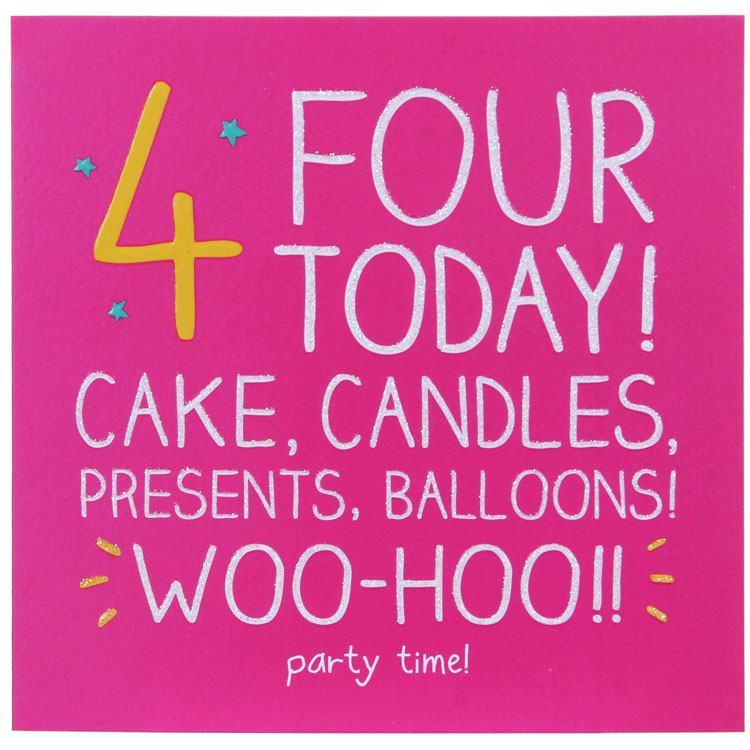 Happy Jackson 4 Woohoo!! Party Time! Birthday Card