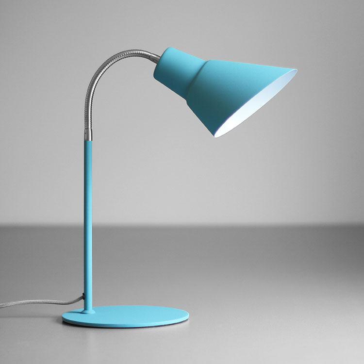 Wild Wood Gooseneck Lamp French Blue