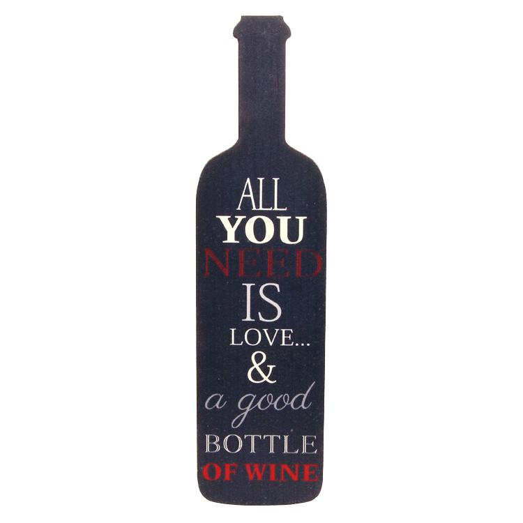 Transomnia All You Need is Love Wine Bottle Sign