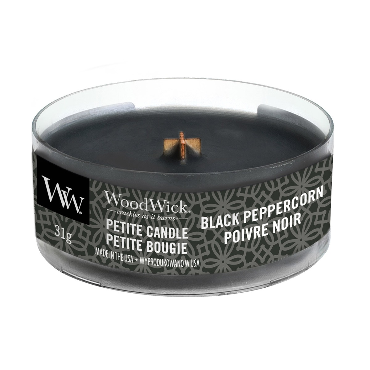 WoodWick Black Peppercorn Petite Candle