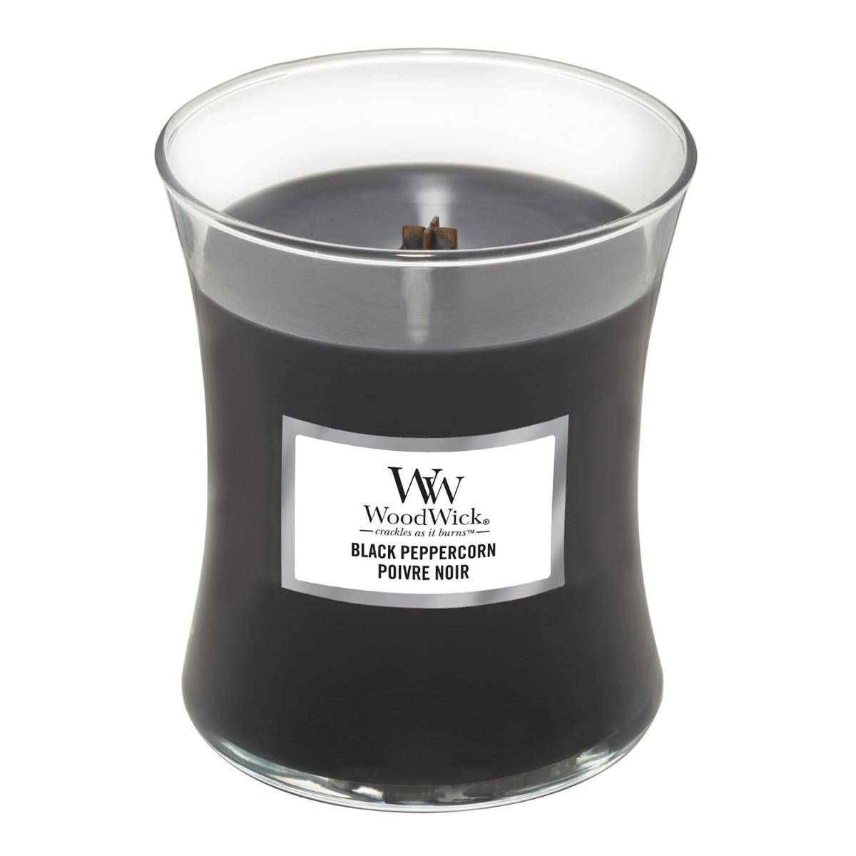 WoodWick Black Peppercorn Medium Hourglass Candle