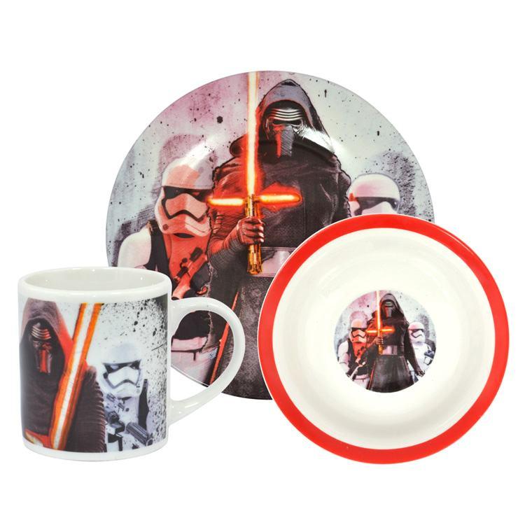 Star Wars Kylo Ren & Troopers 3 Piece Breakfast Set