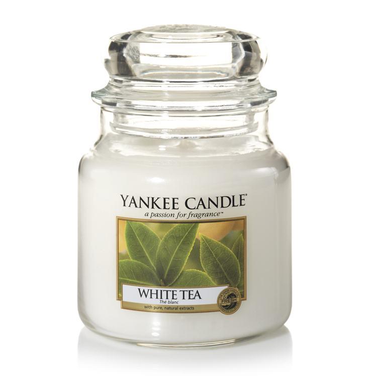 Yankee Candle White Tea Medium Jar Candle