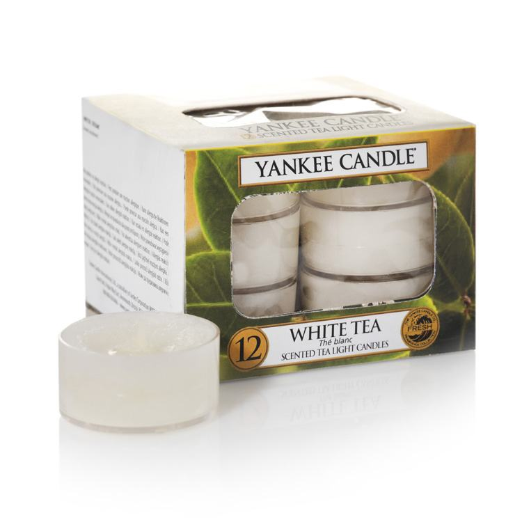 Yankee Candle White Tea Pack of 12 Tealights