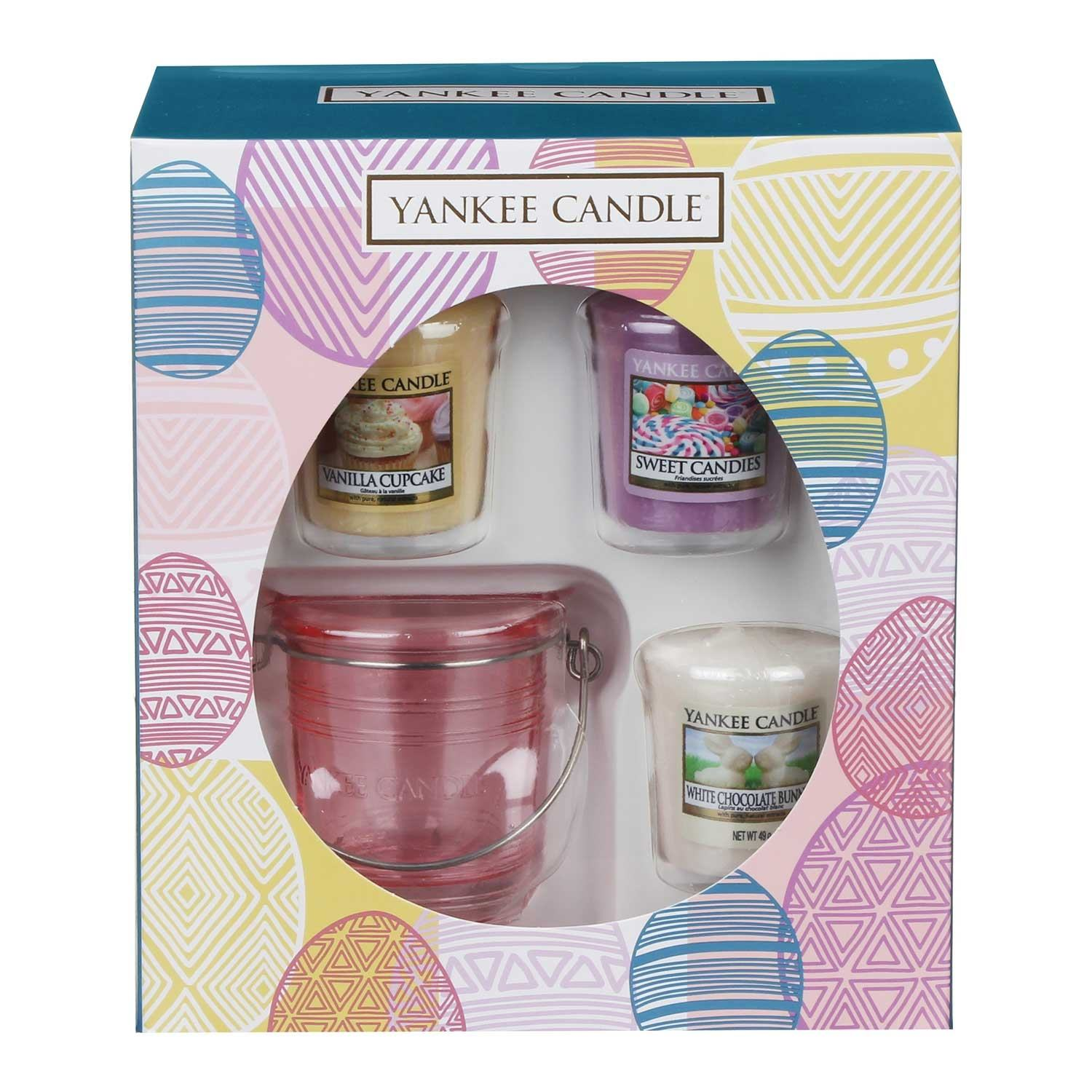 Yankee Candle Three Votive Candle & Holder Easter 2018 Limited Edition Gift Set
