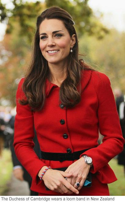 The Duchess of Cambridge wears a Loom Band