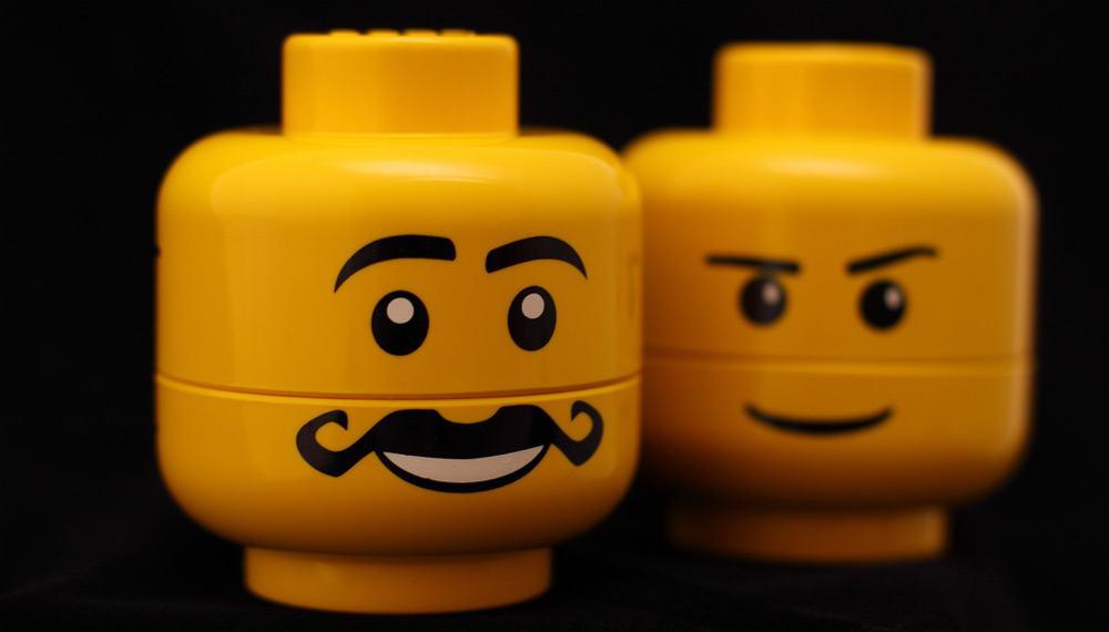 Moustache Lego Heads