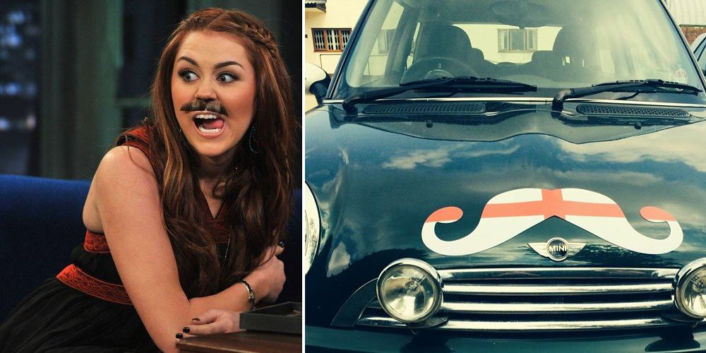 Miley Cyrus Moustache + Car Moustache