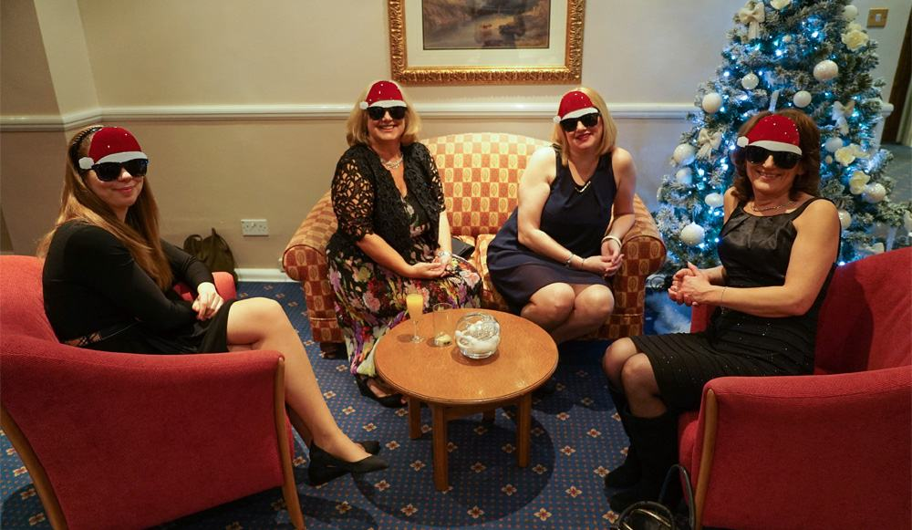 Head Office Ladies at Campus Gifts Christmas Meal