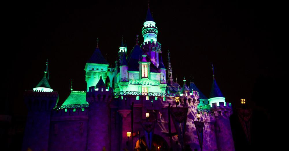 Sleeping Beauty's Castle at Halloween