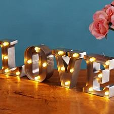 Mini Light Up Letters