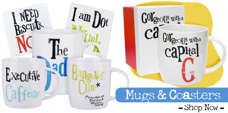 mugs and coasters from The Bright Side